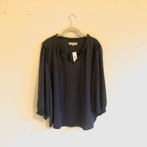LOFT | Size XXL | NWT | Grey Layered Blouse